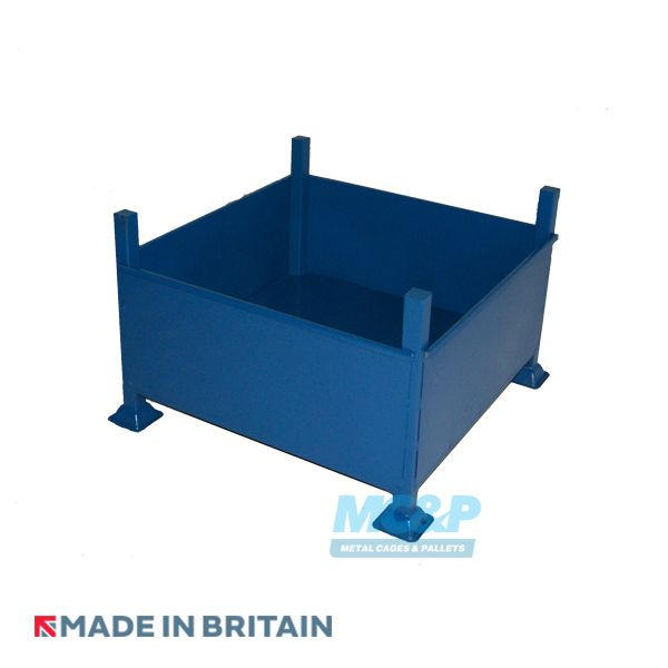 Metal Cage Stillage made with sheet steel and forklift guides