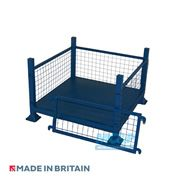 Metal/Steel Stillage (Pallet) with Mesh Sides and Detachable Front 2 thumb