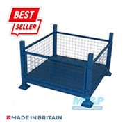 Metal/Steel Stillage (Pallet) with Mesh Sides and Detachable Front 3 thumb
